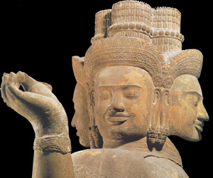 sculpture of Brahma creating Asi sword