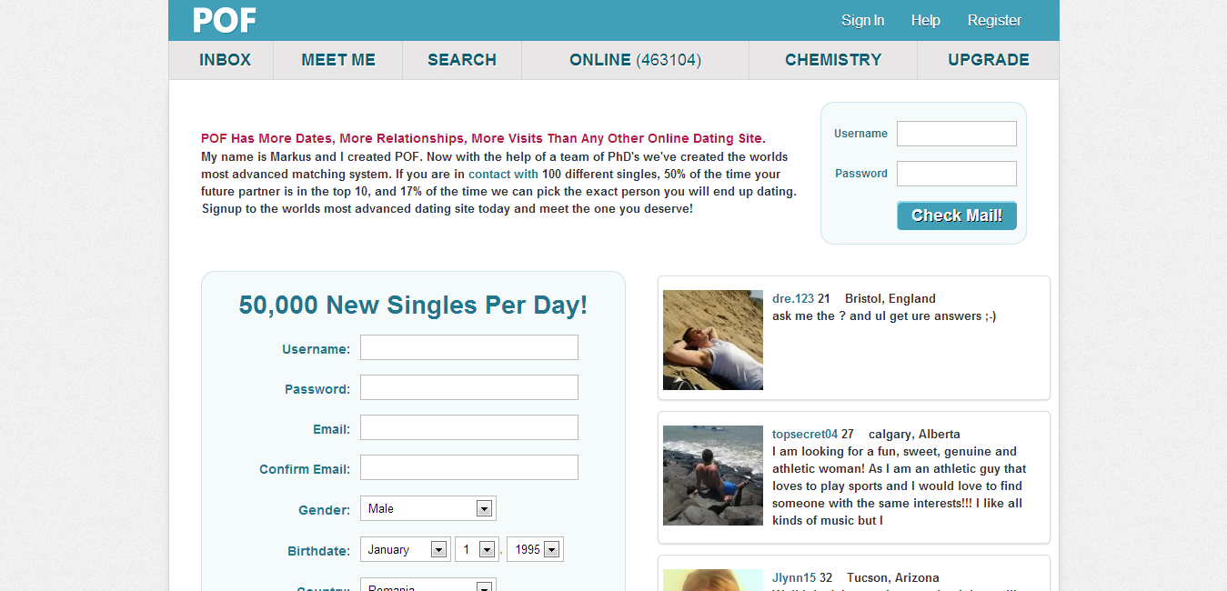 First contact dating website