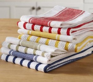 colorful cloth towels for the kitchen, great green home products