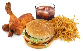 burgers, french fries and hot dogs, unhealthy food