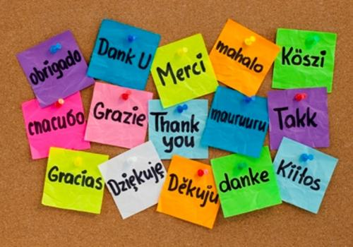 A different way of saying thank you in many languages