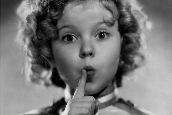 Shirley Temple wondering