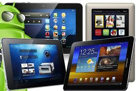 A collection of tablets running Google's operating system