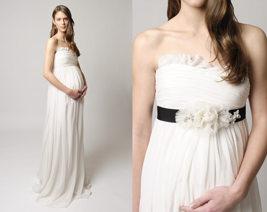 10 Designer Pregnant Wedding Dress Models To Make You Look Like A Princess (1)