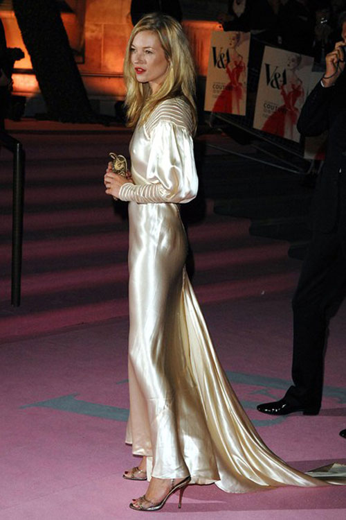 Kate Moss vintage golden ripped Dior dress