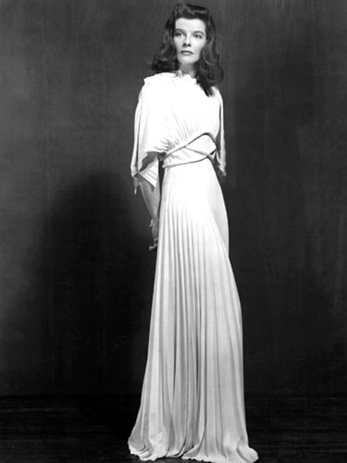 Katharine Hepburn The Philadelphia Story white dress