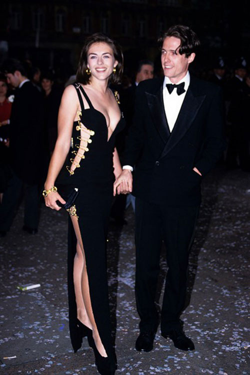 Elizabeth Hurley Four Weddings and a Funeral Versace pin dress