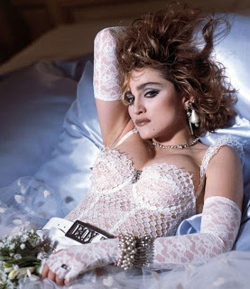 Madonna Like a Virgin white tutu dress