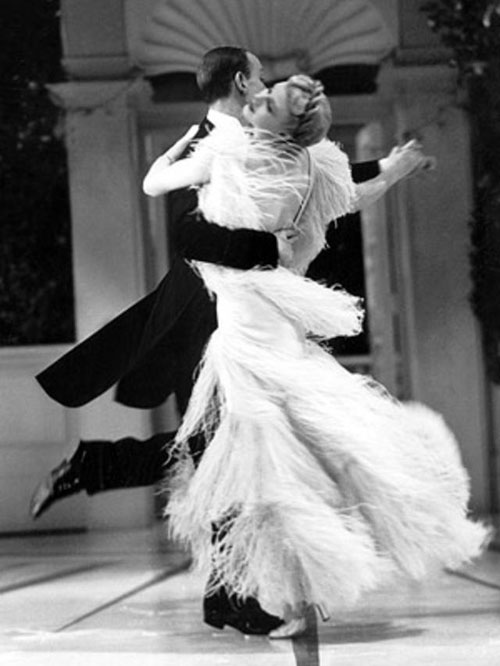 Ginger Rogers Top Hat ostrich feather dress