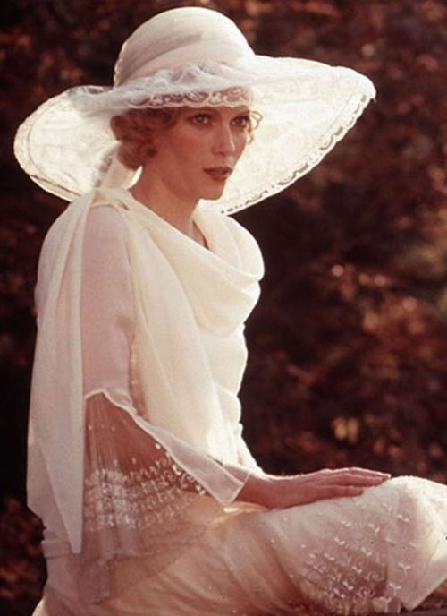 Mia Farrow hat pink dress The Great Gatsby