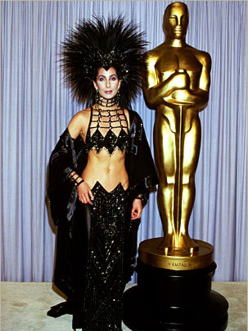 Cher 1986 Oscars Bob Mackie dress headpiece