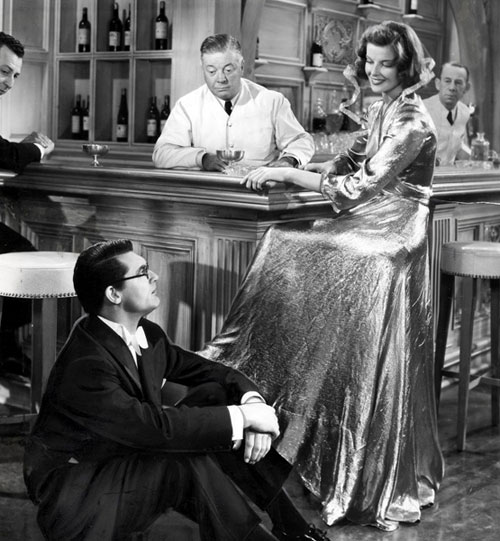 Katharine Hepburn Cary Grant Bringing up Baby gold lame dress