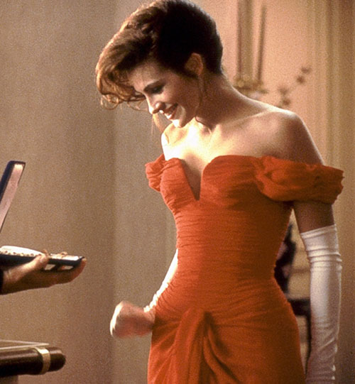 Julia Roberts red dress Pretty Woman