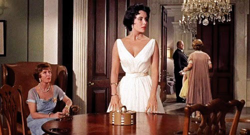 Elizabeth Taylor Cat on a Hot Tin Roof white dress