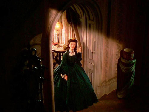 Scarlet O'Hara Gone with the wind green velvet dress