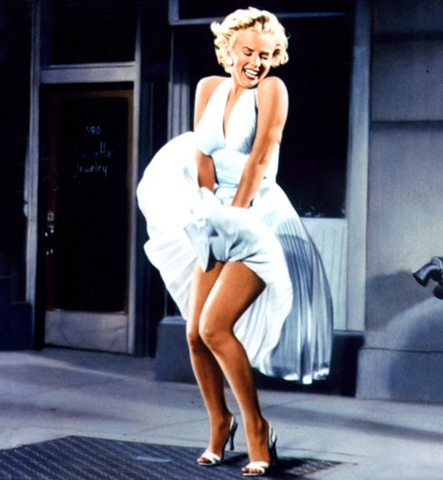 Marilyn Monroe Seven Year Itch white dress vent