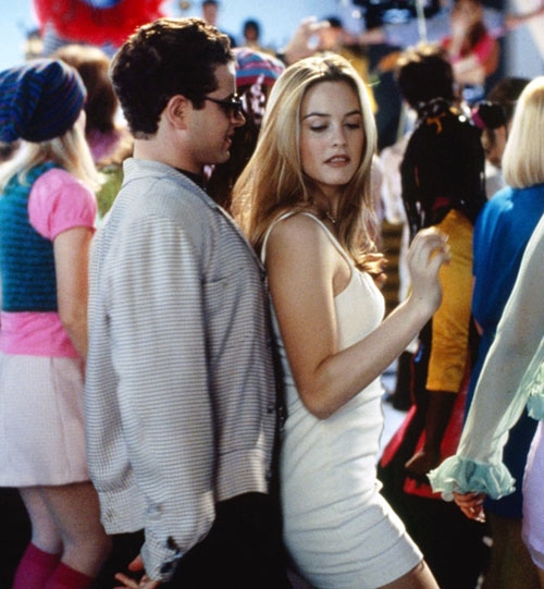 Alicia Silverstone Clueless Calvin Klein white slip dress