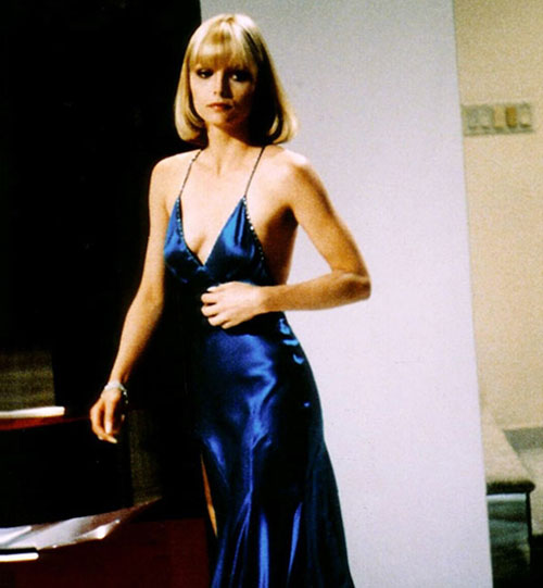 Michelle Pfeiffer electric blue silk dress Scarface