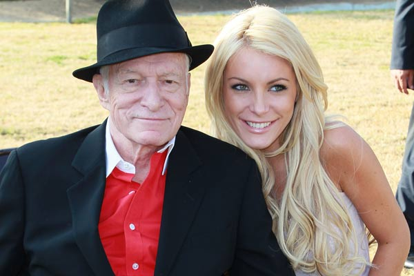 hugh hefner with playboy model