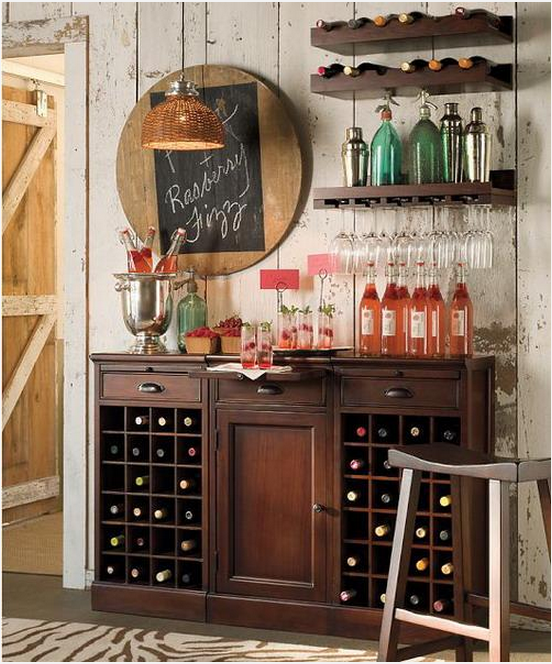 Barn Style Wet Bar Design