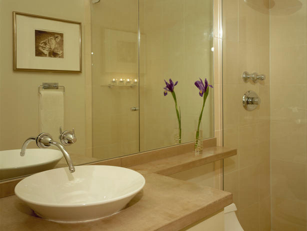 bathroom decorating ideas extended counter top