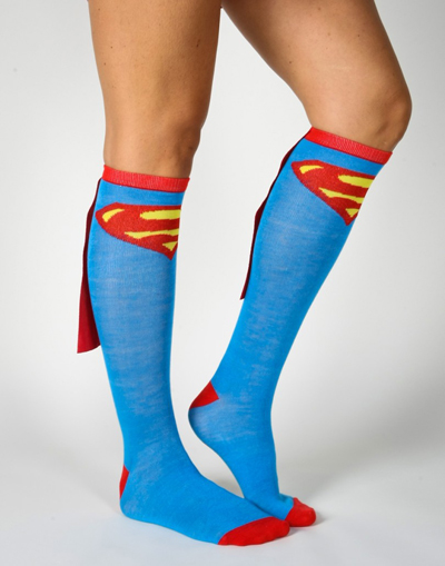 superman socks cape