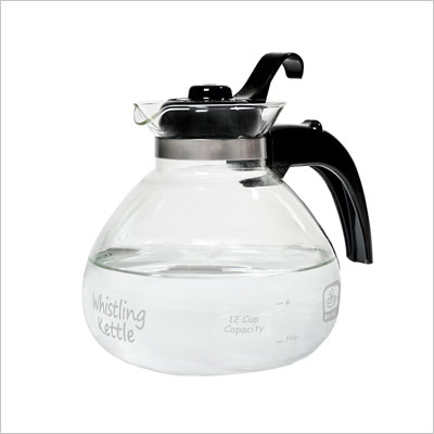 12-Cup Glass Stovetop Whistling Kettle