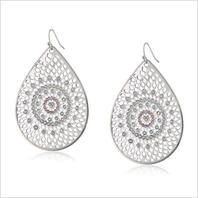 Baroque Bohemia Silver Teardrop Earrings