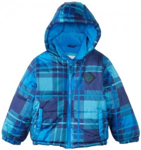 Big Chill Boys and Toddlers Plaid Hooded Puffer Jacket