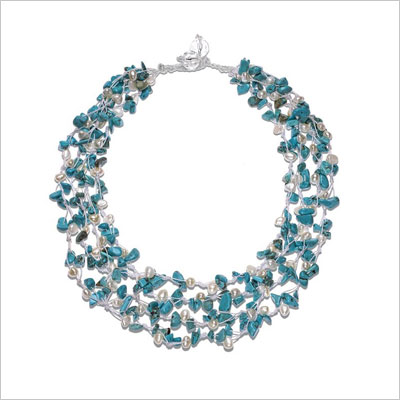 Handwoven Gemstone & Freshwater Cultured Pearl Necklace