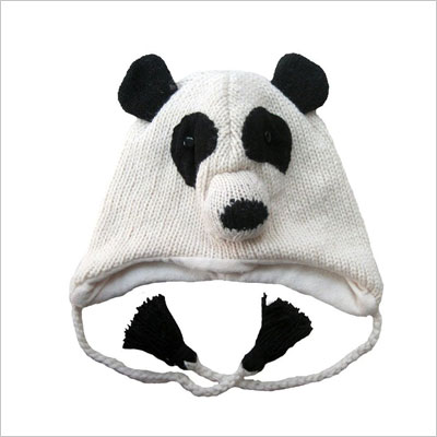 Knit Wool Panda Bear Beanie Hat
