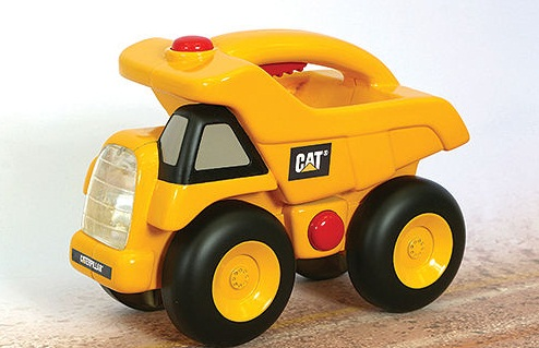 Toystate Caterpillar Construction Flash Light And Night Light Dump Truck