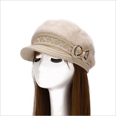 Women's Cable Knit Visor Hat