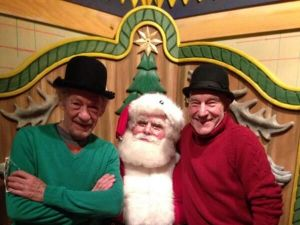 santa is a fan of Gandalf and Captain Picard