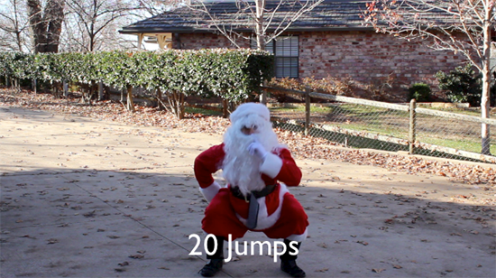 santa physical exercise