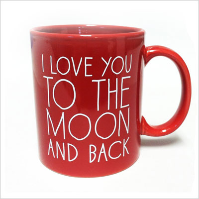 I Love You to the Moon and Back-Coffee Mug Red
