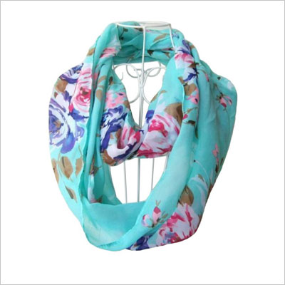 Soft Multicolor Sheer Scarf