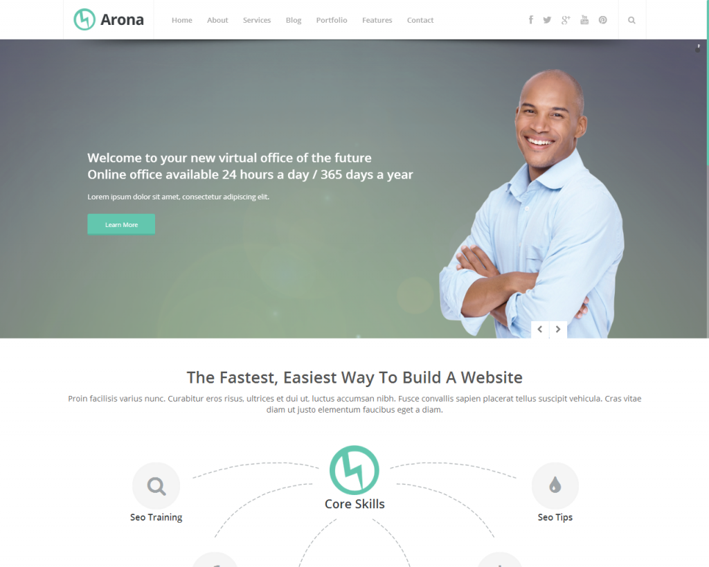 arona wordpress theme