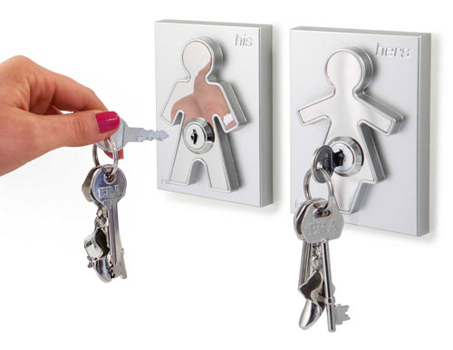 His and Her Key Holders - Couple Human Key Holders