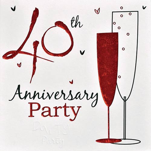 40 Year Wedding Anniversary Gift Ideas: 10 Great 40th Wedding Anniversary Gift Ideas