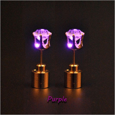 LED Light Up Earrings Crown Shaped