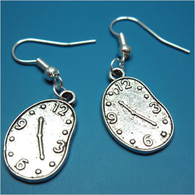 Melting Clock Earrings