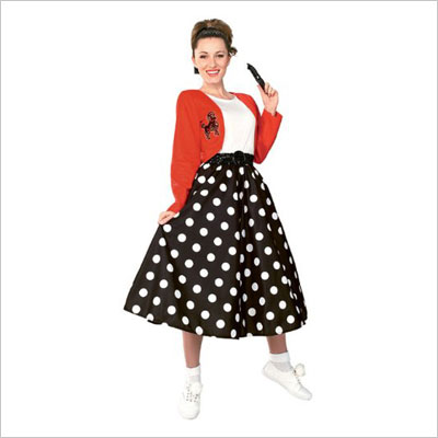 50's Polka Dot Sock Hop Girl Costume