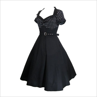 60's Vintage Polka Dot Party Dress