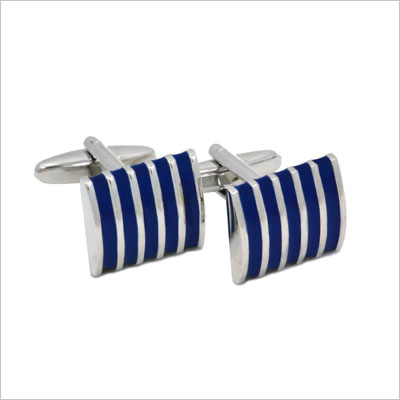 APEX Enamel Striped Cufflinks
