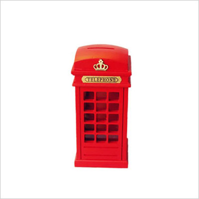 Britain telephone booth coin banks