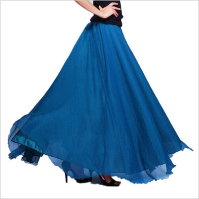Chiffon Retro Long Vintage Skirt