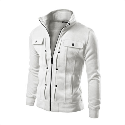 Doublju Mens Removable Hood Jacket