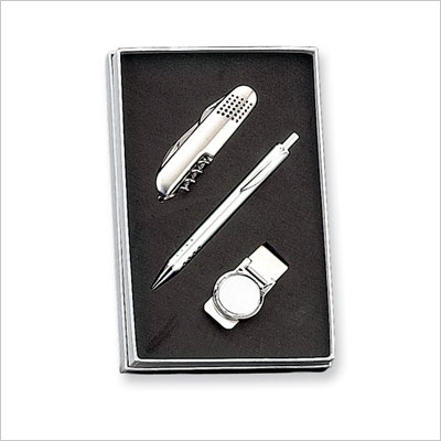 Pen, Knife And Money Clip Set