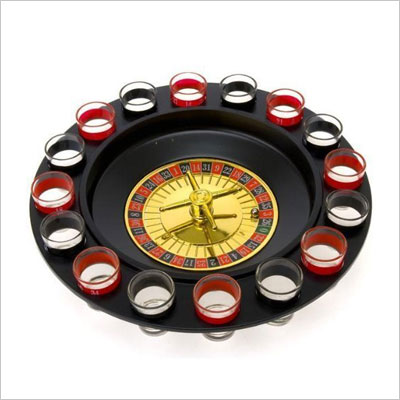 Shot Glass Roulette - Drinking Game Set